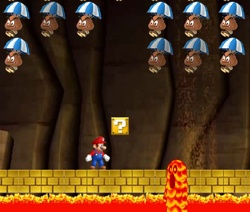 Mario World Inavders cave level