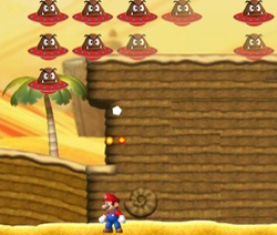 Mario World Inavders desert level